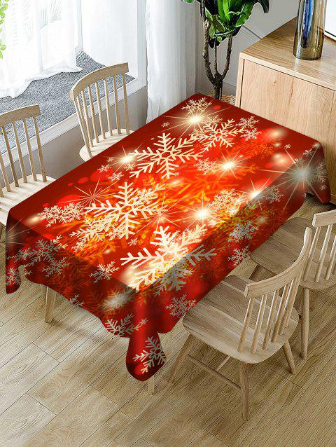 Christmas Snowflake Fabric Waterproof Tablecloth - multicolor W54 X L54 INCH