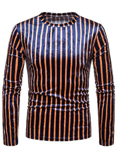 Striped Velvet T-shirt - multicolor A 2XL