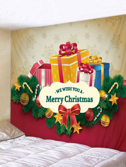 Merry Christmas Gifts Print Wall Tapestry Art Decoration - multicolor W79 X L71 INCH
