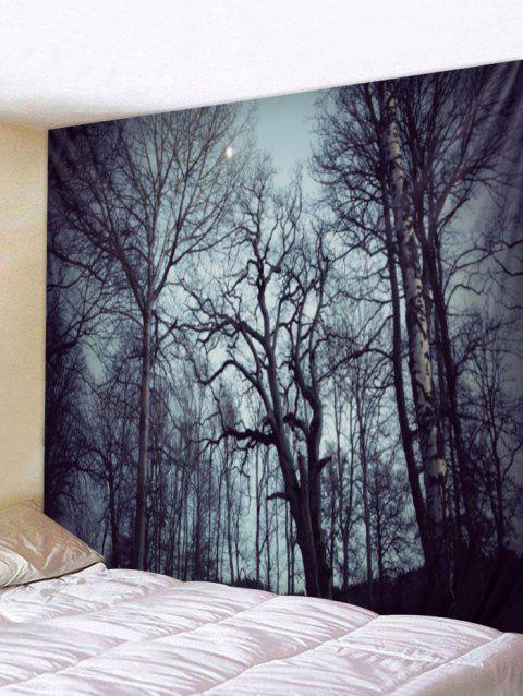 Forest Sky Print Wall Art Tapestry - GRAY W79 X L59 INCH