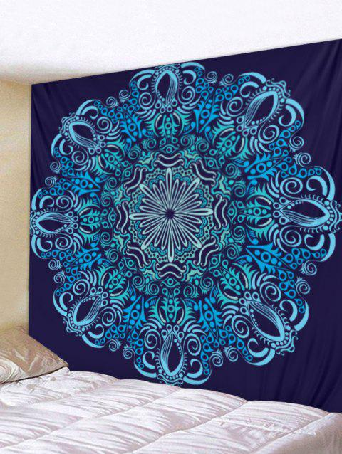 Boho Print Tapestry Wall Hanging Decor - BLUE W91 X L71 INCH