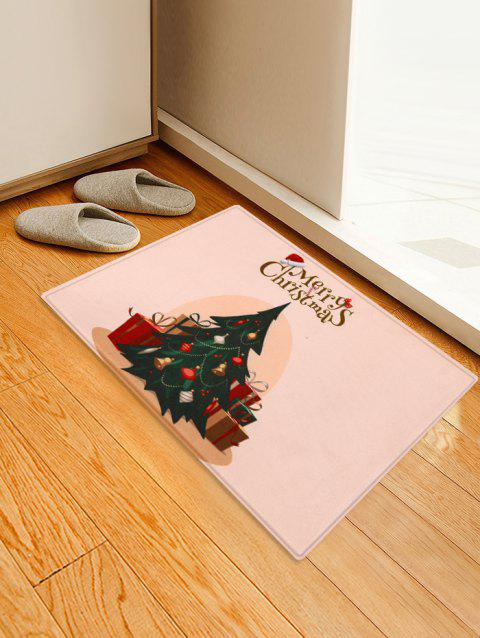 Christmas Trees Pattern Decorative Bath Mat - multicolor W16 X L24 INCH