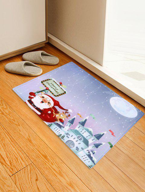 Christmas Santa Pattern Decorative Bath Mat - multicolor W24 X L35.5 INCH