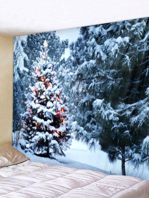Christmas Trees Print Wall Tapestry Art Decoration - multicolor W79 X L71 INCH