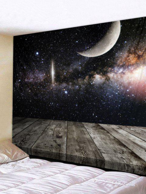 Stars Sky Moon Print Tapestry Art Decoration - multicolor W79 X L59 INCH