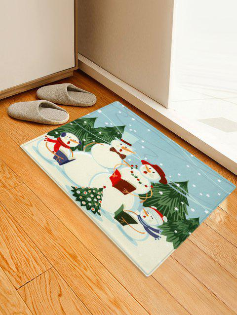 Christmas Snowman Print Decorative Bath Mat - multicolor W16 X L24 INCH