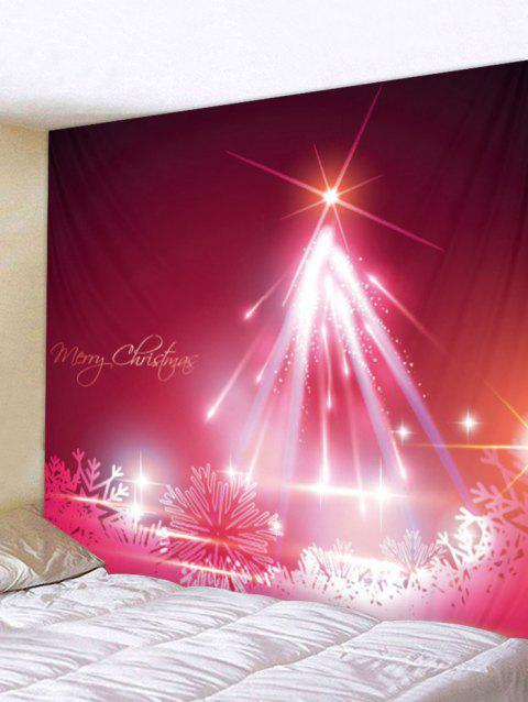 Christmas Snowflake Print Wall Tapestry Art Decoration - BURNT PINK W59 X L51 INCH