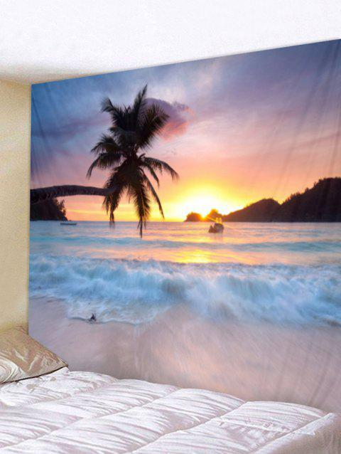 Sunrise Sea Print Tapestry Wall Hanging Decor - multicolor W59 X L51 INCH