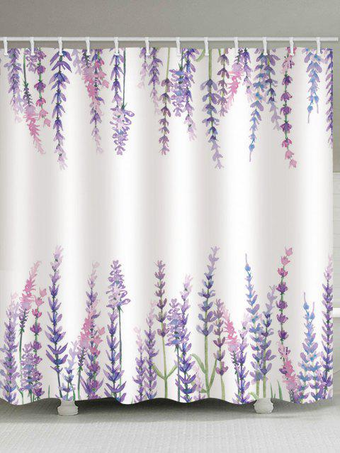 Fresh Style Flowers Print Water Resistant Shower Curtain - multicolor W65 X L71 INCH