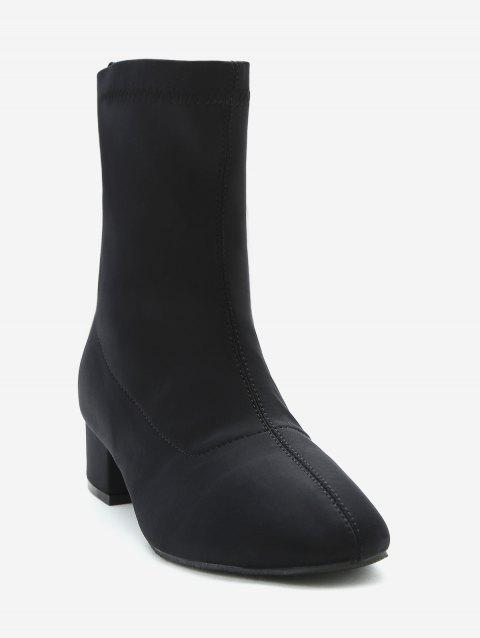 Bottines à Talons Epais Stretch - Noir EU 36