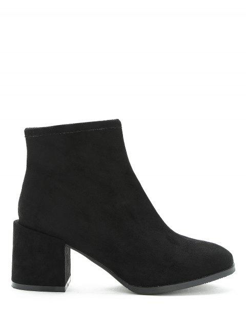 Bottines à talon uni couleur unie - Noir EU 35