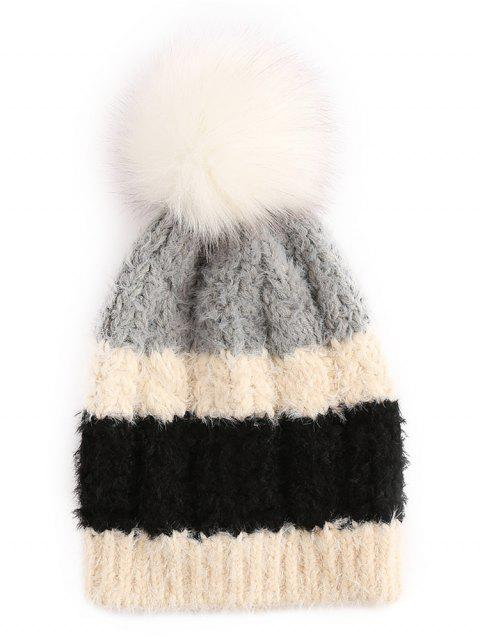 Casquette de ski Fuzzy Ball Color Block - Noir