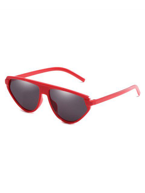 Full Frame Flat Lens Catty Sunglasses - RED