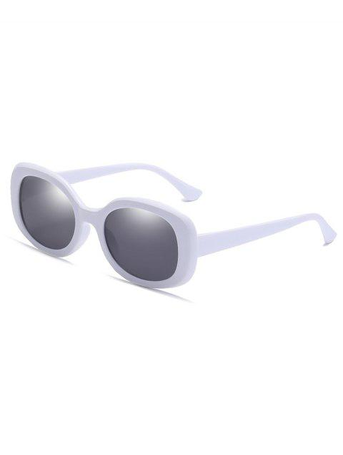 Lunettes de soleil Vintage Full Frame Beach Holiday - Blanc