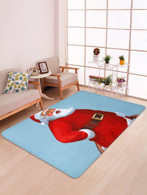 Christmas Santa Claus Floor Mat - multicolor W47 X L63 INCH