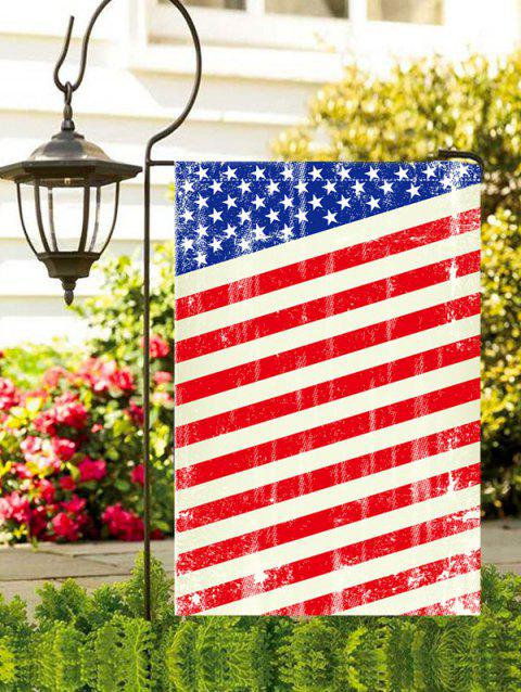 American Flag Print Waterproof Garden Flag - multicolor