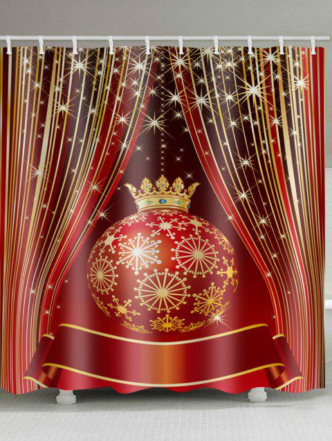 Christmas Ball Shower Curtain - multicolor W59 X L71 INCH