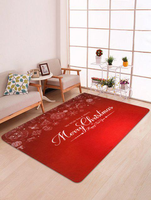 Merry Christmas Snowflake Floor Mat - multicolor W47 X L63 INCH