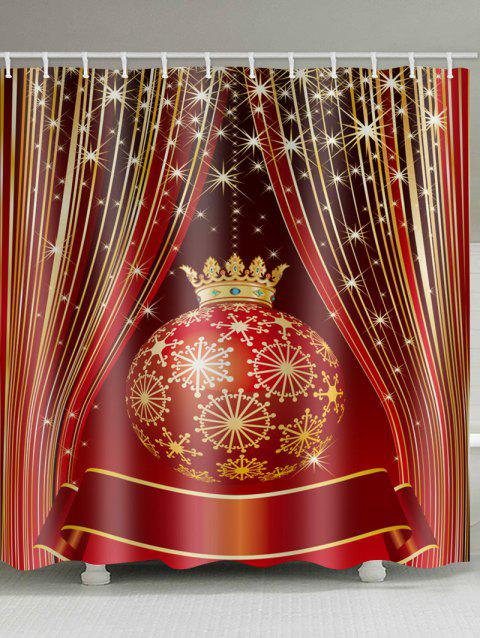 Christmas Ball Shower Curtain - multicolor W71 X L71 INCH