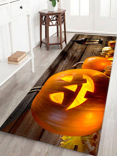 Anti-skid Halloween Pumpkin Skulls Printed Floor Rug - multicolor W16 X L47 INCH
