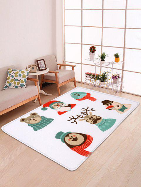 Non-slip Christmas Animals Printed Floor Rug - multicolor W47 X L63 INCH