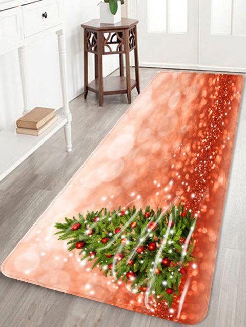 Anti-skid Christmas Tree Printed Floor Rug - multicolor W16 X L47 INCH