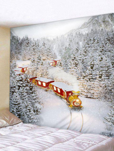 Christmas Train Printed Tapestry Art Decoration - CORNSILK W79 X L59 INCH