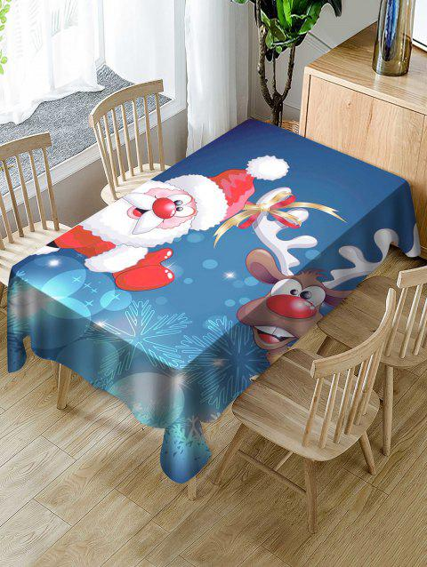Funny Santa Claus Printed Dining Tablecloth - multicolor W54 X L72 INCH
