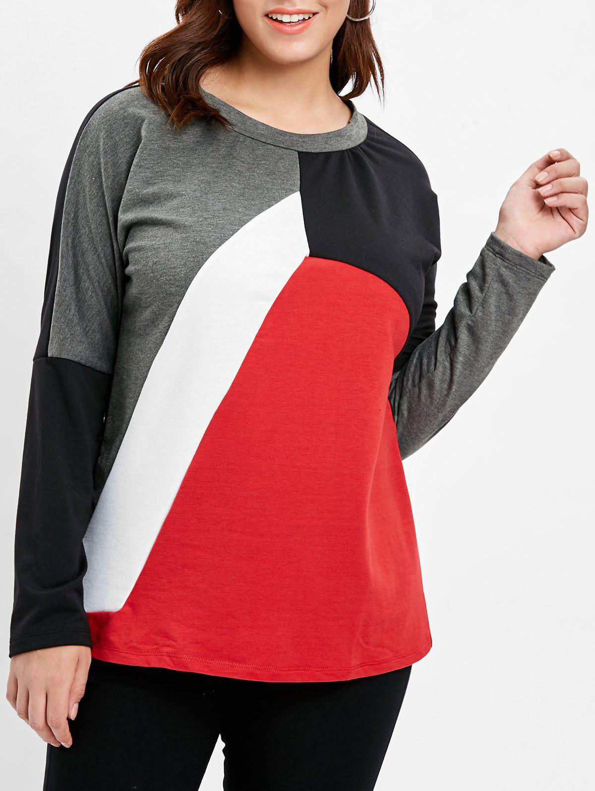 Plus Size Color Block T-shirt