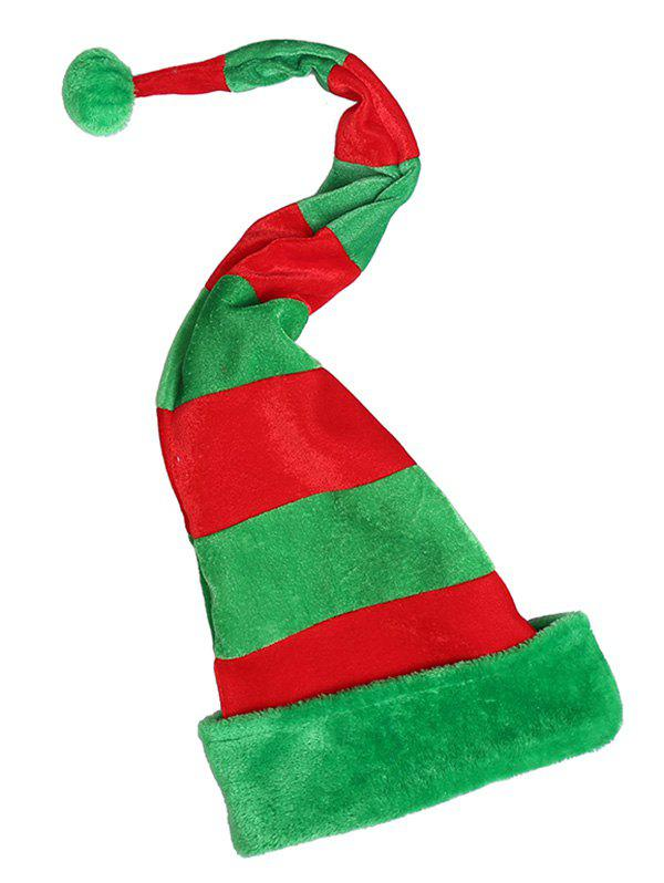 Color Block Christmas Party Hat - multicolor