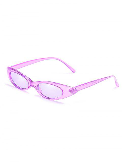 Anti UV Flat Lens Slim Catty Sunglasses - MAUVE