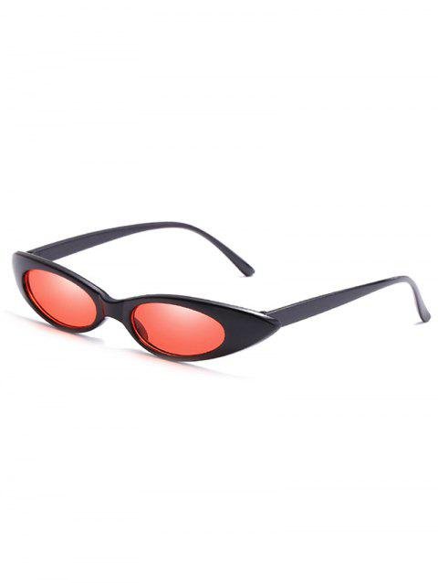 Anti UV Flat Lens Slim Catty Sunglasses - NIGHT