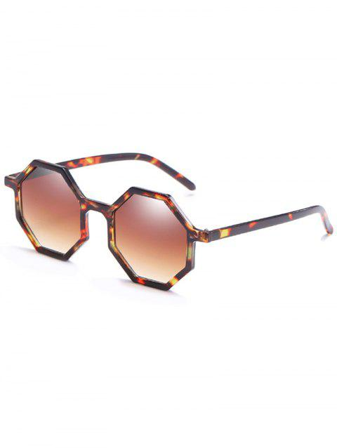 Anti Fatigue  Irregular Lens Full Frame Sunglasses - CAMEL BROWN