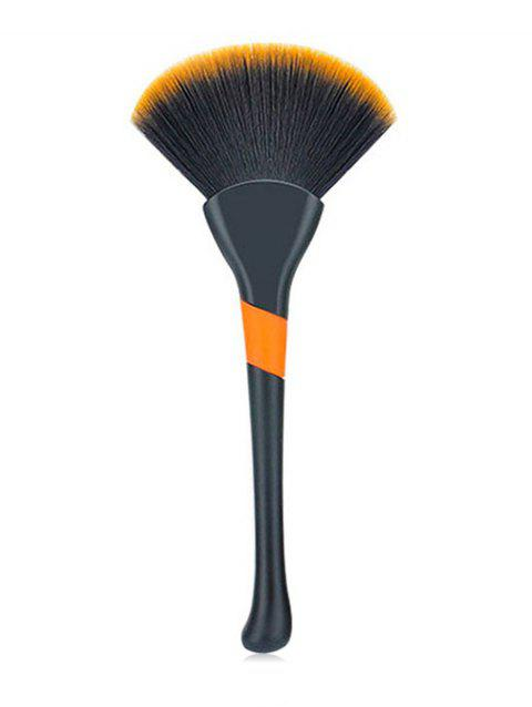 Cosmetic Ultra Soft Fiber Hair Fan Brush - BLACK