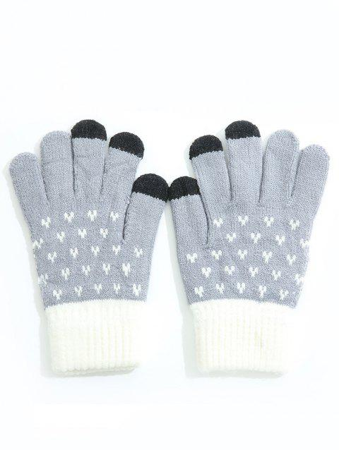 Gants de ski Full Finger Color Block - Bleu gris