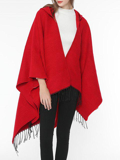 Vintage Solid Color Wrap Shawl Scarf - RED