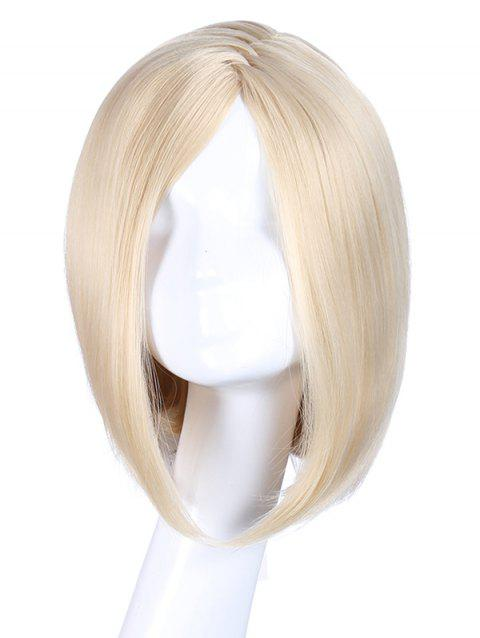 Short Side Bang Cosplay Straight Zigzag Synthetic Wig - BLONDE