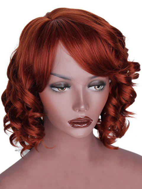 Medium Side Bang Loose Body Wave Synthetic Wig - ORANGE