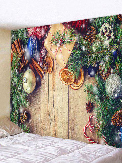Décoration de Noël Impression Tapisserie Art Décoration - multicolor W79 X L71 INCH