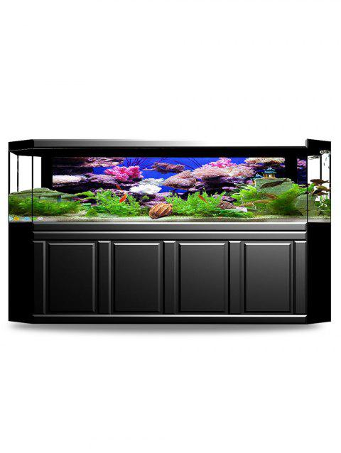 Autocollant de fond d'aquarium de poissons d'aquarium - multicolor W24 X L16.1 INCH