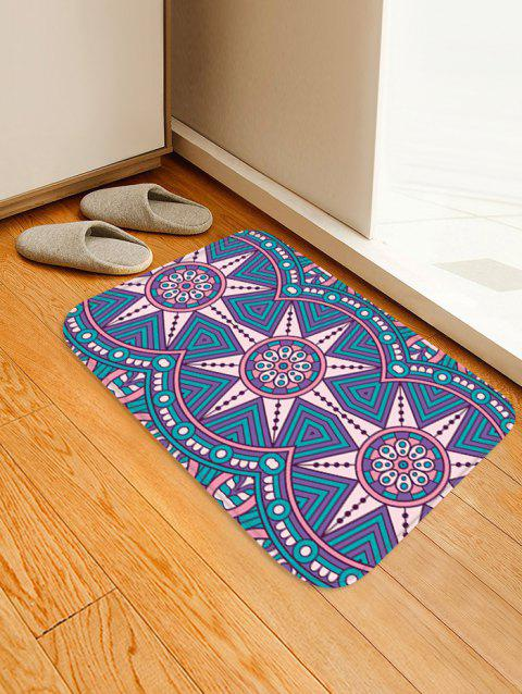 Geometric Flower Pattern Anti-skid Water Absorption Area Rug - multicolor A W20 INCH * L31.5 INCH