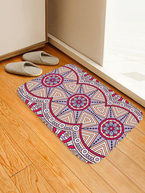 Geometric Flower Pattern Anti-skid Water Absorption Area Rug - multicolor B W16 INCH * L24 INCH