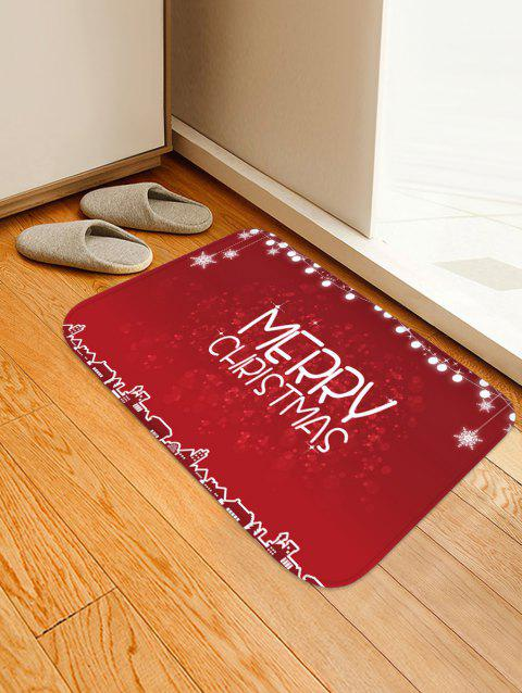 Merry Christmas Printed Non-slip Area Rug - RED W16 X L24 INCH