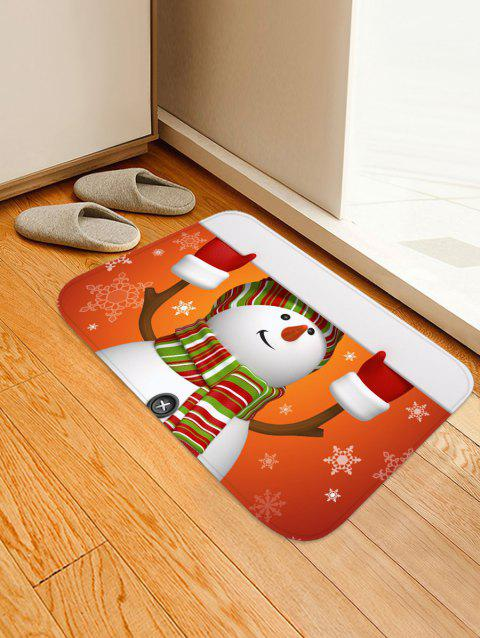 Christmas Snowman Printed Non-slip Area Rug - RED W16 X L24 INCH
