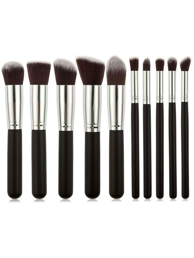10Pcs White Wooden Handles Travel Makeup Brush Suit