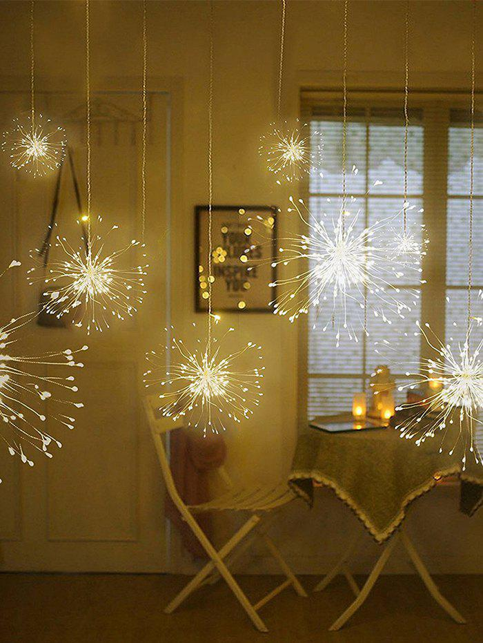 Hanging String Firework Light with Remote Control - multicolor