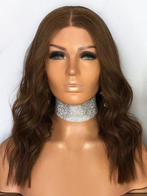 Middle Part Capless Long Wavy Party Synthetic Wig - BROWN