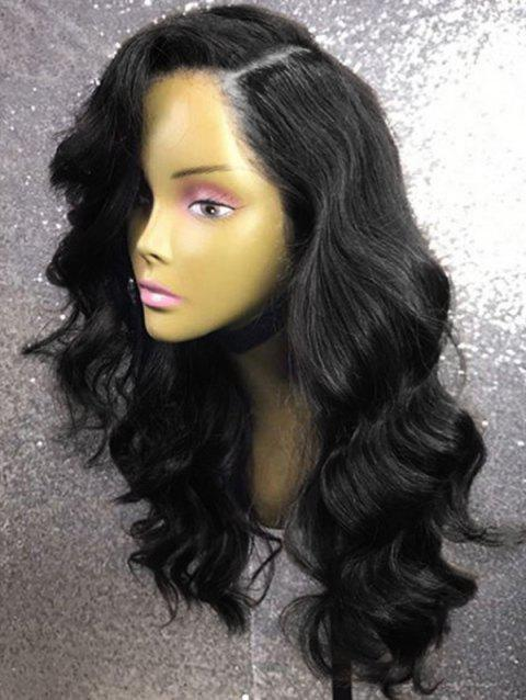 Long Side Parting Wavy Party Capless Synthetic Wig - NATURAL BLACK