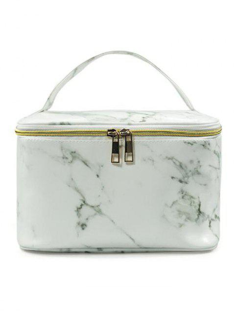 Cosmetic Marble Pattern Large Capacity Toiletry Bag - 001
