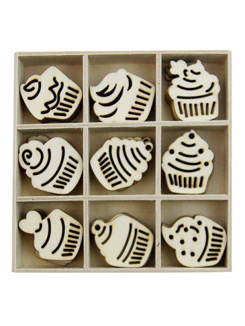 Cake Wooden Home Decorations Set - BURLYWOOD